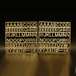 Felt Groove Board Letters 146 Gold 28mm